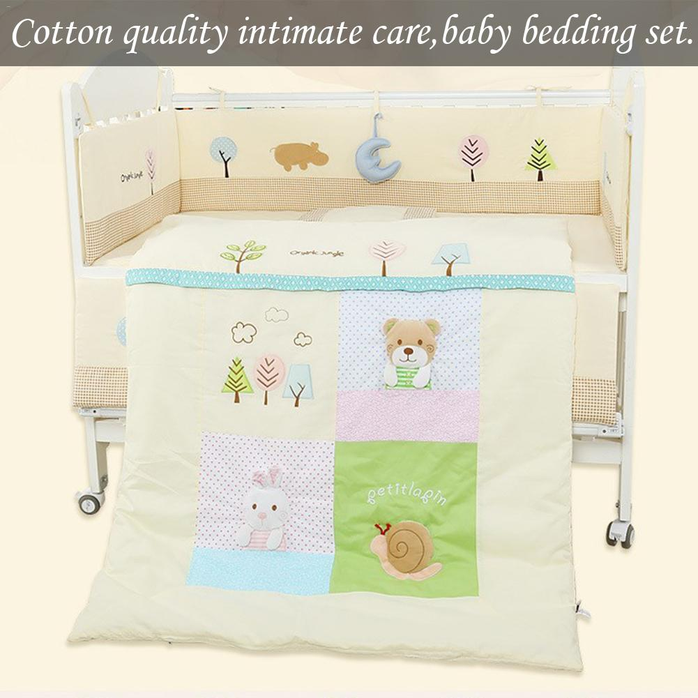 Baby Cotton Cartoon Stereo Toy Bed Circumference Set Kit Crib Washable 7 Piece Bed Set Detachable Soft Environmentally FriendlyBaby Cotton Cartoon Stereo Toy Bed Circumference Set Kit Crib Washable 7 Piece Bed Set Detachable Soft Environmentally Friendly