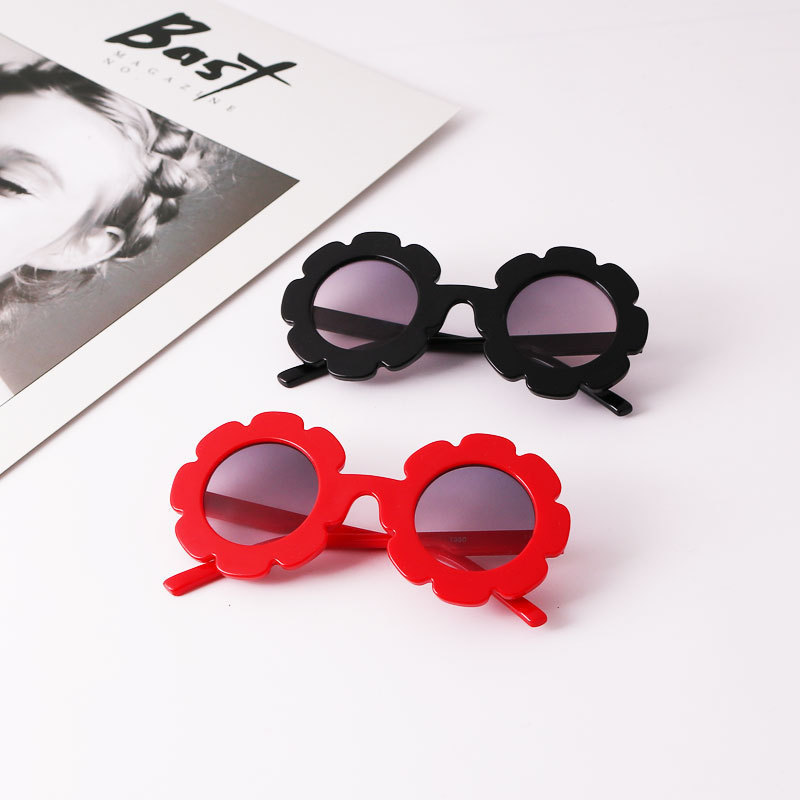 2019 NEW Sun Flower Round Cute Kids Sunglasses UV400 For Boy Girls Toddler Lovely Baby Sun Glasses Children Oculos De Sol N554