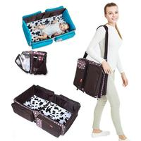 Multi Functional Mummy Bags Kids Portable Travel Bed Baby Cribs Diapers Bag Foldable Mummy Shoulder Bag Mummy Travel Bags