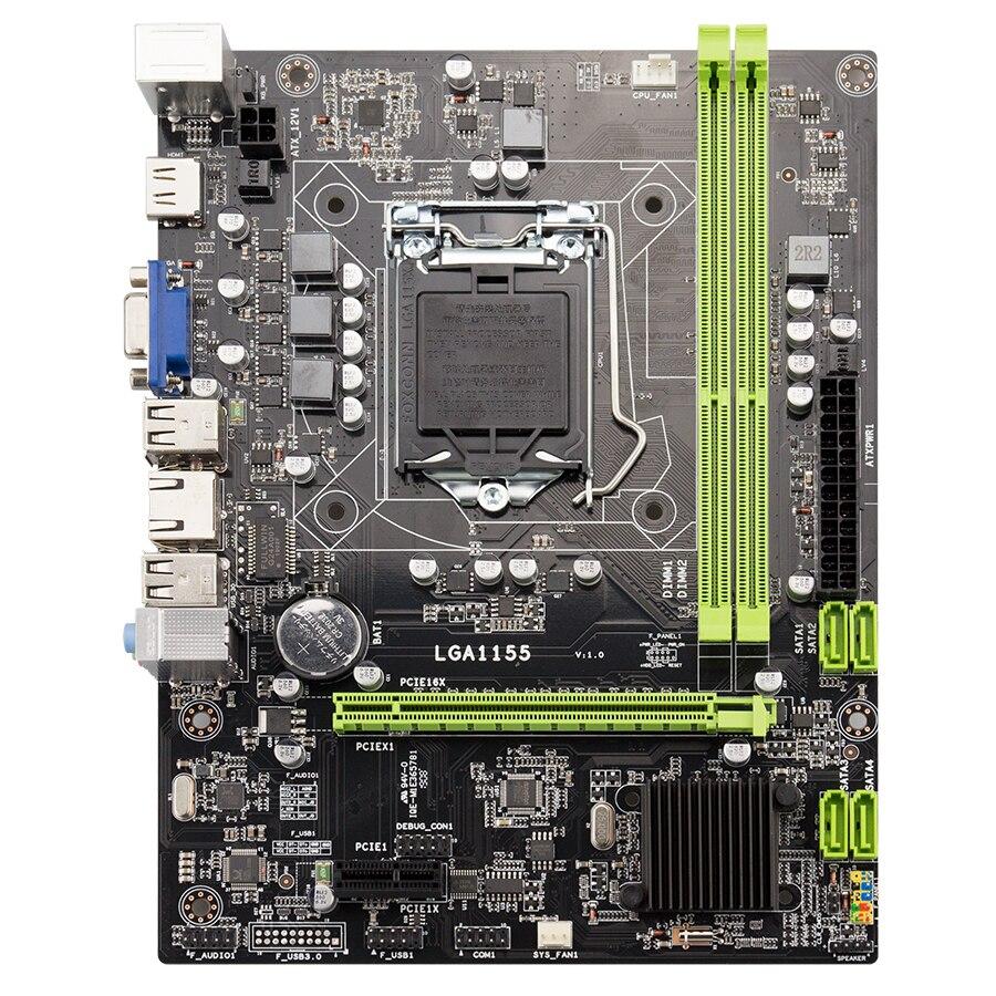 Kllisre H61 desktop motherboard LGA1155 for i3 i5 i7 CPU support ddr3 memory