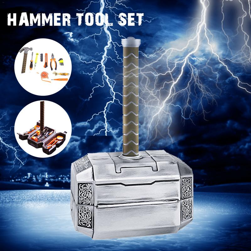 Household DIY Multifunctional Thor Hammer Tool Set Corrosion Resistant Hammer Set Durable Tool KitHousehold DIY Multifunctional Thor Hammer Tool Set Corrosion Resistant Hammer Set Durable Tool Kit