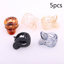 5 pieces/lot Quality black ABS plastic hair claws small size girls clips cute mini jaw for women fringe pin
