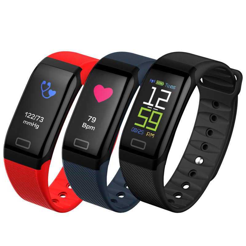 fitness tracker color screen smart watch ios android for men women baby kids bracelet blood pressure watch pedometer with camera
