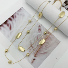 Bohemia Double Layers Chain Necklace CCB Beads Long Necklace For Women Bijoux New Fashion Jewelry Fine Gifts For Mother 3 Colors
