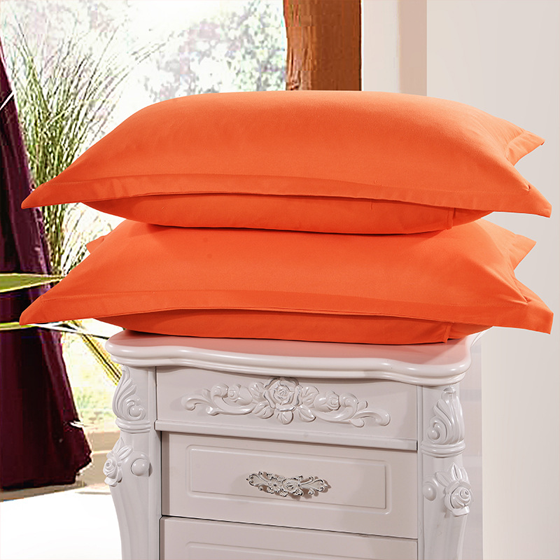 1 Piece Orange Color 48cm*74cm Pillow Case Brief Style Knitted Pillowcases 100% Polyester Pillow Cases Bedroom Use 50