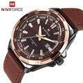 2016 neue Luxus Marke Männer Military Uhren Lederband Analog Datum männer Quarz Business Uhren männer Casual Handgelenk uhr-in Quarz-Uhren aus Uhren bei