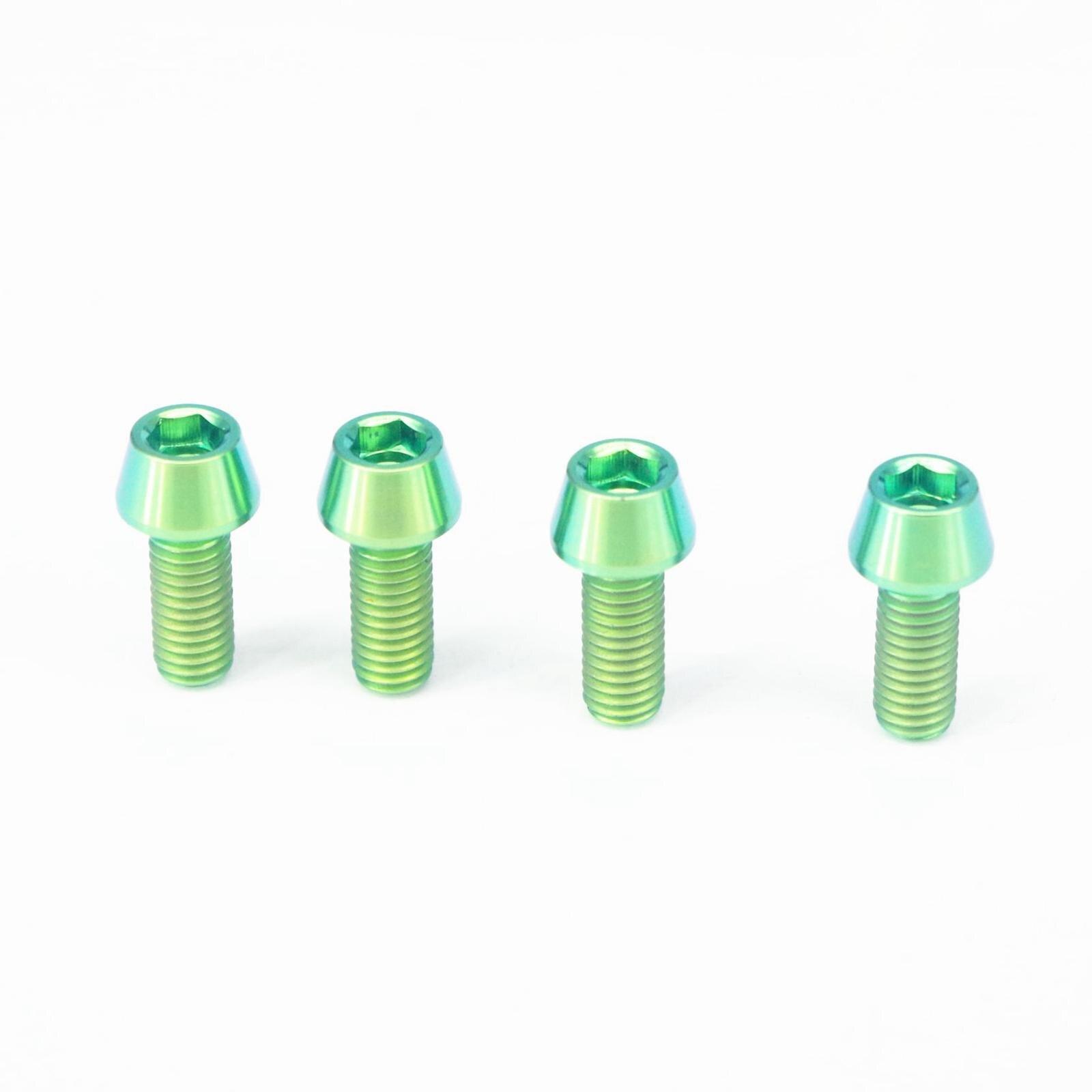 M6 x 30mm x 1mm Allen Head RacePro 20x Titanium Tapered Bolt GR5 Green