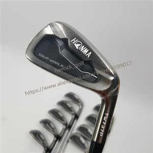 Image 4 - Golf Club Irons Set Honma Tour Wereld TW737p Iron Groep 4 10 W (10 Pcs) zwart Hoofd Steel Shaft R / S Gratis Verzending