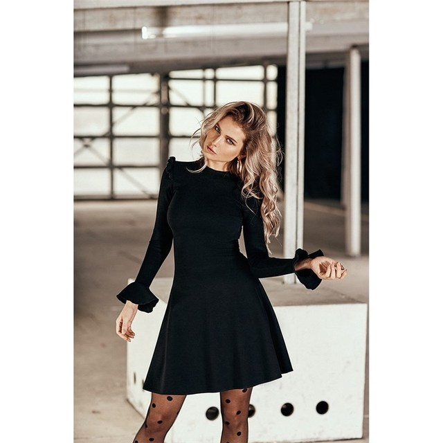 Платье. Цвет черный C.H.I.C