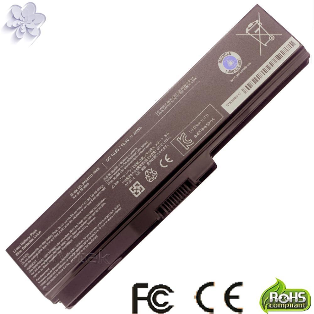 Baterie pro výměnu notebooků pro TOSHIBA Satellite L645 L655 L700 L730 L735 L740 L745 L750 L750 L755 PA3817 PA3817U PA3817U-1BRS 3817