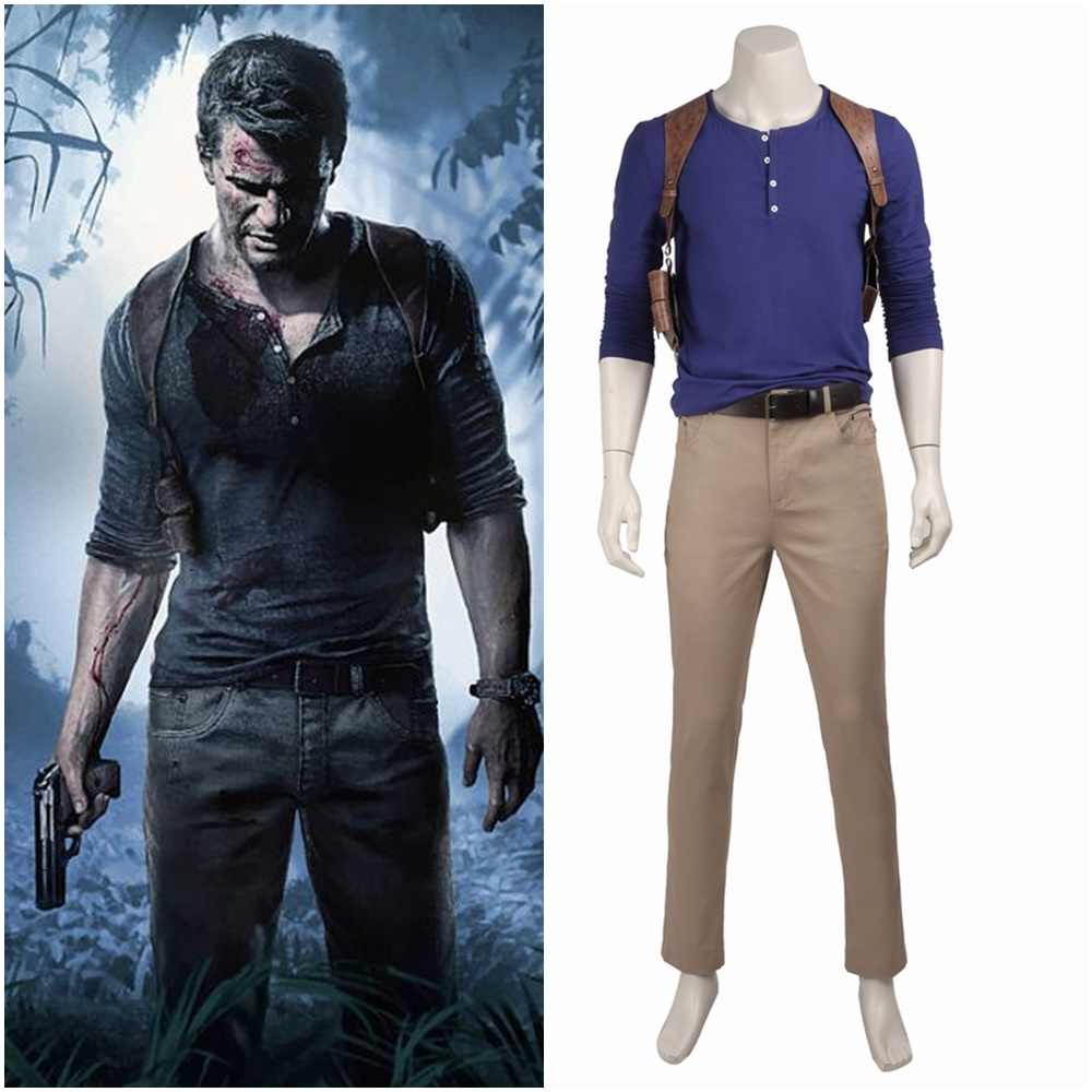 Uncharted 4 A Thief S End Nathan Drake Cosplay Costume Aliexpress