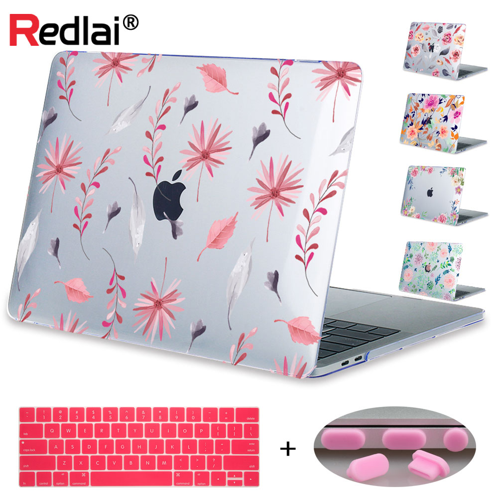 Redlai Plant Floral Print Hard Case For Apple Macbook Pro Retina 13.3 12 15.4 Sleeve Air 11 13.3 New Pro 13 15 A1706 Laptop Case redlai plant floral print hard case for apple macbook pro retina 13 3 12 15 4 sleeve air 11 13 3 new pro 13 15 a1706 laptop case