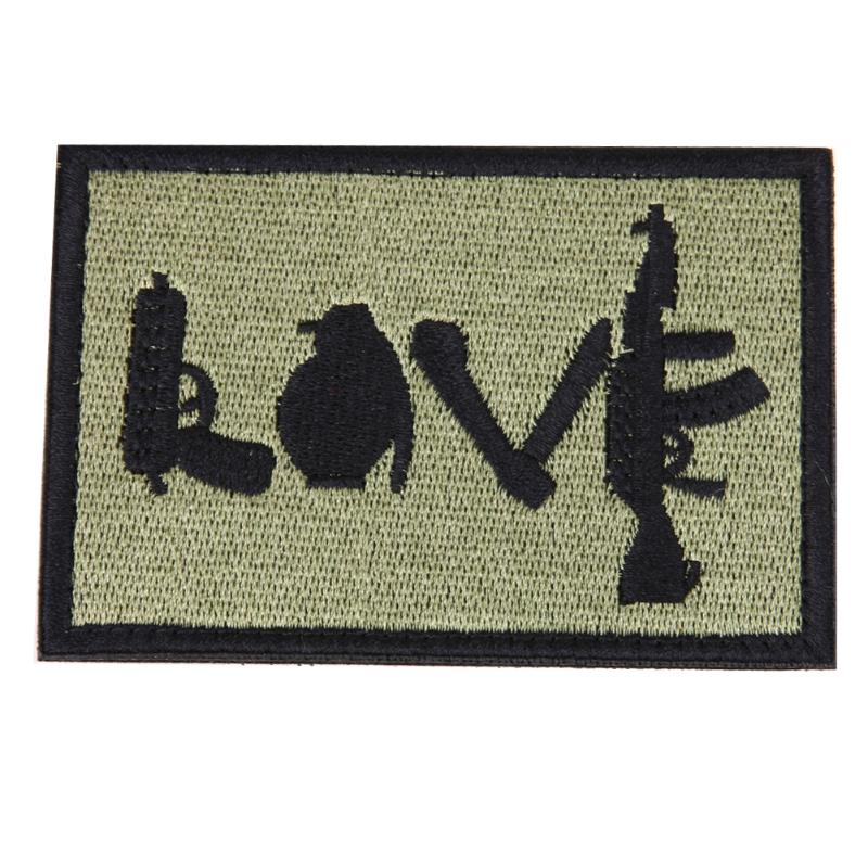 Morale Military Patch love Perfect for clothes  Backpacks etc love