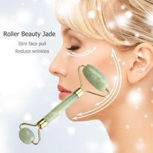 1Pc Facial Massage Jade Roller Face Neck Natural Stone Health Care Body Gua Sha