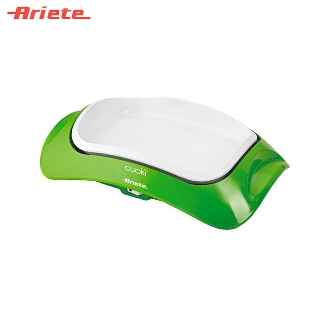 Гриль Ariete 734/01 Cuoki Portable зеленый, стильный и нарядный, мощность 700 Вт, антипригарное керамическое покрытие