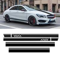Racing Door Roof Sport Side Stripes Skirt Decal Sticker for Mercedes for Benz W117 C117 X117 CLA AMG