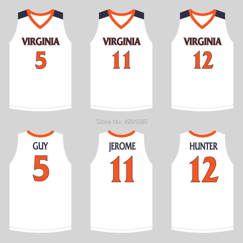 quality design 15c35 52dbb US $29.88 |2019 National Championship Virginia College Kyle Guy 5 Ty Jerome  11 De'Andre Hunter 12 College Basketball Jerseys-in Basketball Jerseys ...