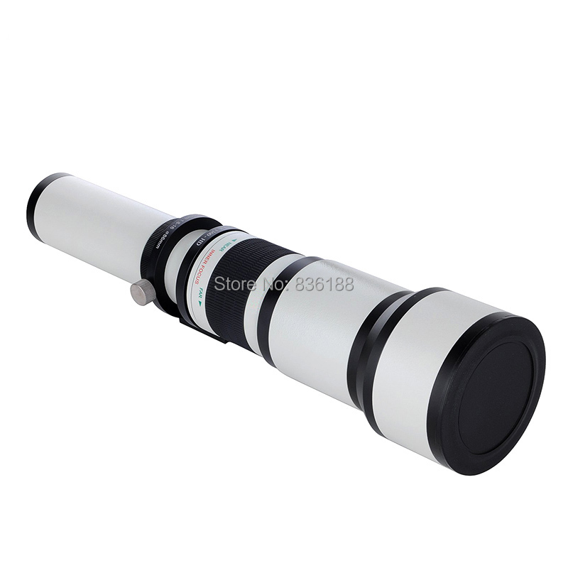 JINTU blanc 650-1300mm MF suppuer Kit de téléobjectif + adaptateur T2 + étui pour Nikon 1 monture J4 S2 V3 J3 J2 J1 S1 V2 AW1 appareil photo reflex - 4