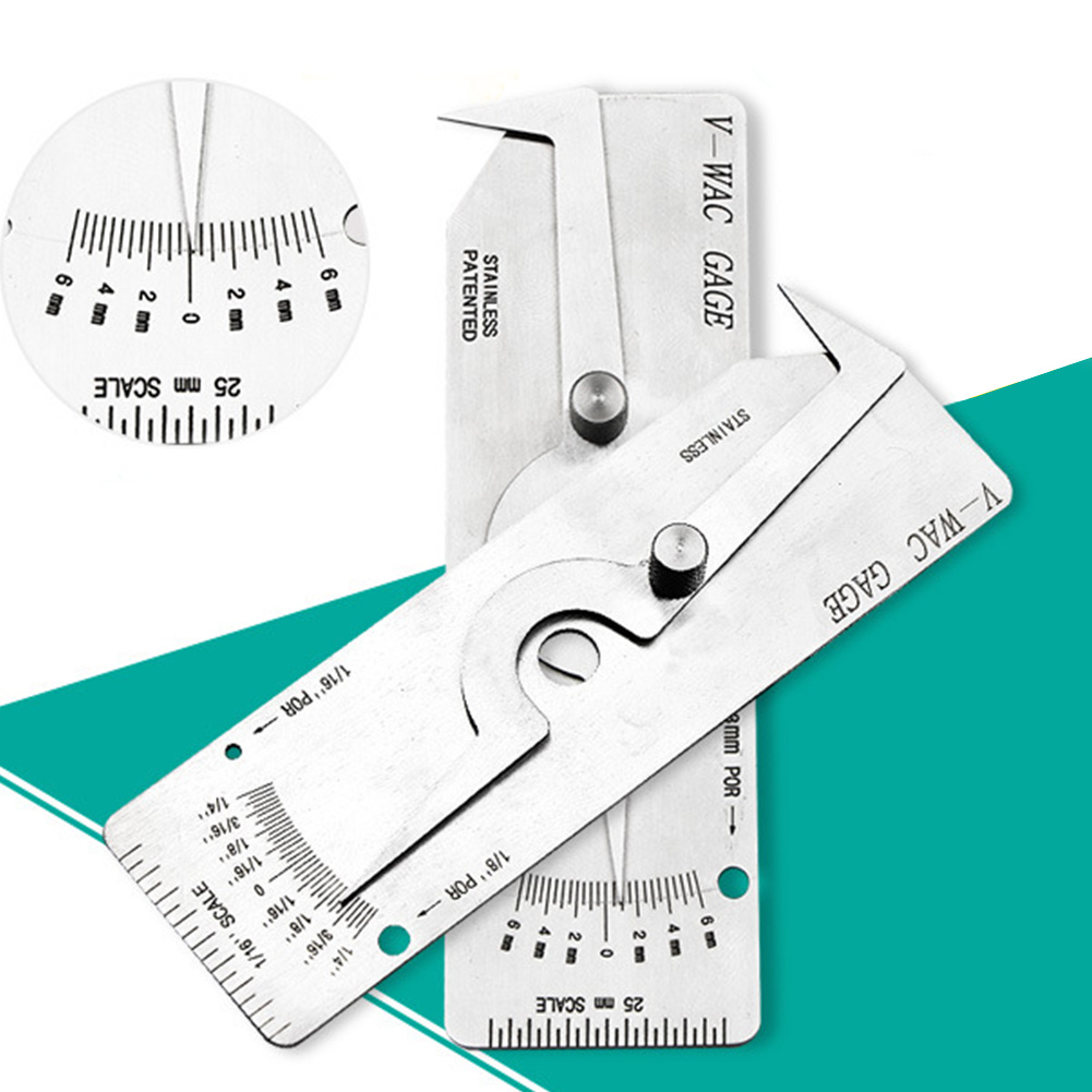 Quick Measuring Tool Accurate Stainless Steel Inspection Fillet Gage Inch Metric With Scale Easy Operate Welding Gauge Practical