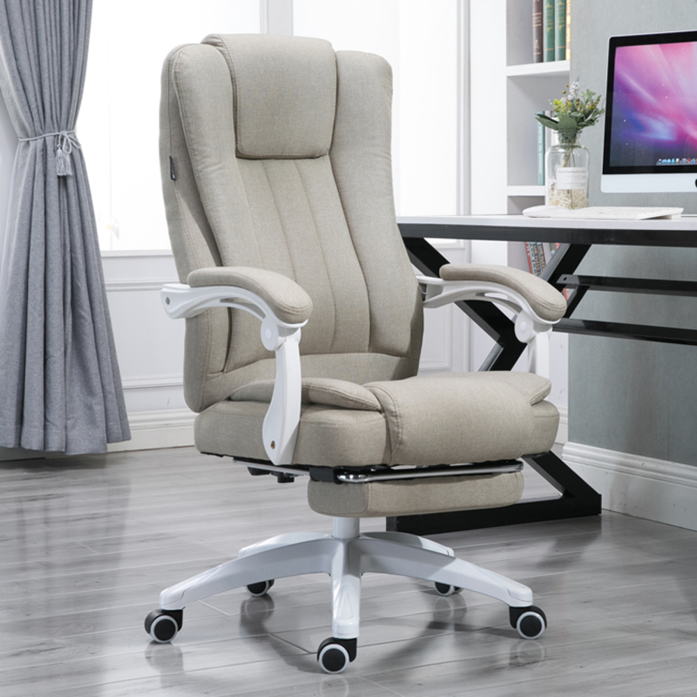 Fabric Art Home Computer Can Lie Staff Member Meeting Cowhide Boss Genuine Leather Massage Chair Work In An