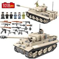 Military WW2 German King Tiger 131 Tank Building Blocks Legoed Army Soldier Weapon 1018 Pcs Bricks Kits Education Toys for Boys