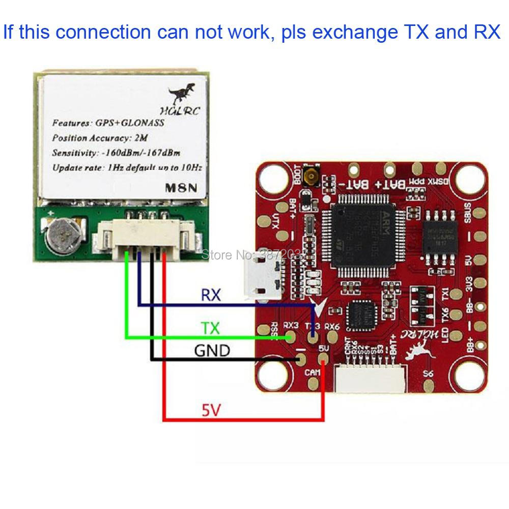 U8 Gps Module Antenna Compatible With M8n For Apm Pixhawk Cc3d Tx Should Be Connected To Microcontroller And Rx Naze32 F3 Flight Control In Home Automation Modules From Consumer Electronics On