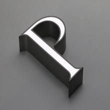 Akrylowa przednia podświetlana litera strona ze stali nierdzewnej do reklamy w sklepie tanie tanio shsuosai CN (pochodzenie) ss-201