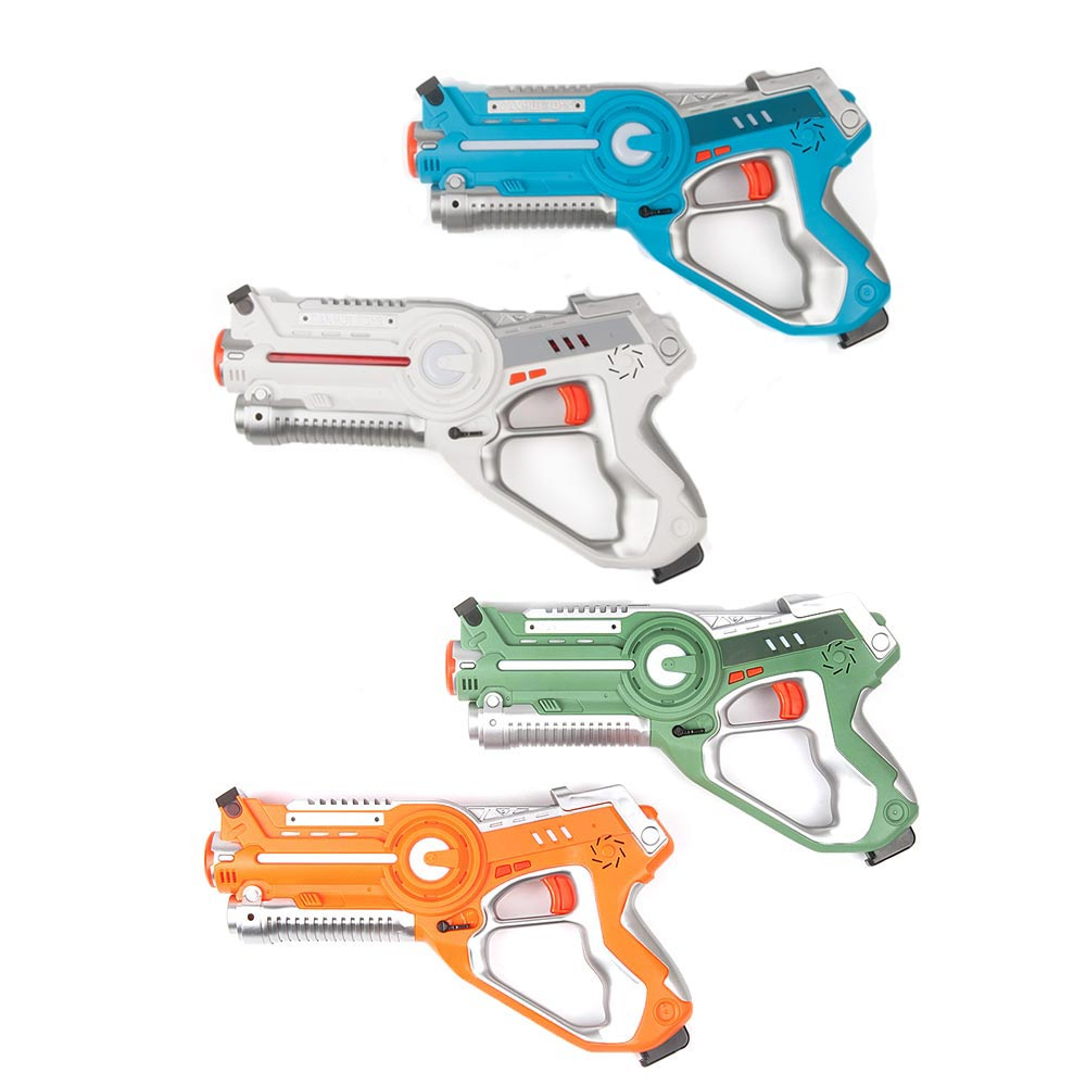New 4Pcs Infrared Laser Blaster Laser Indoor and Outdoor Family Activity for Kids and Adults