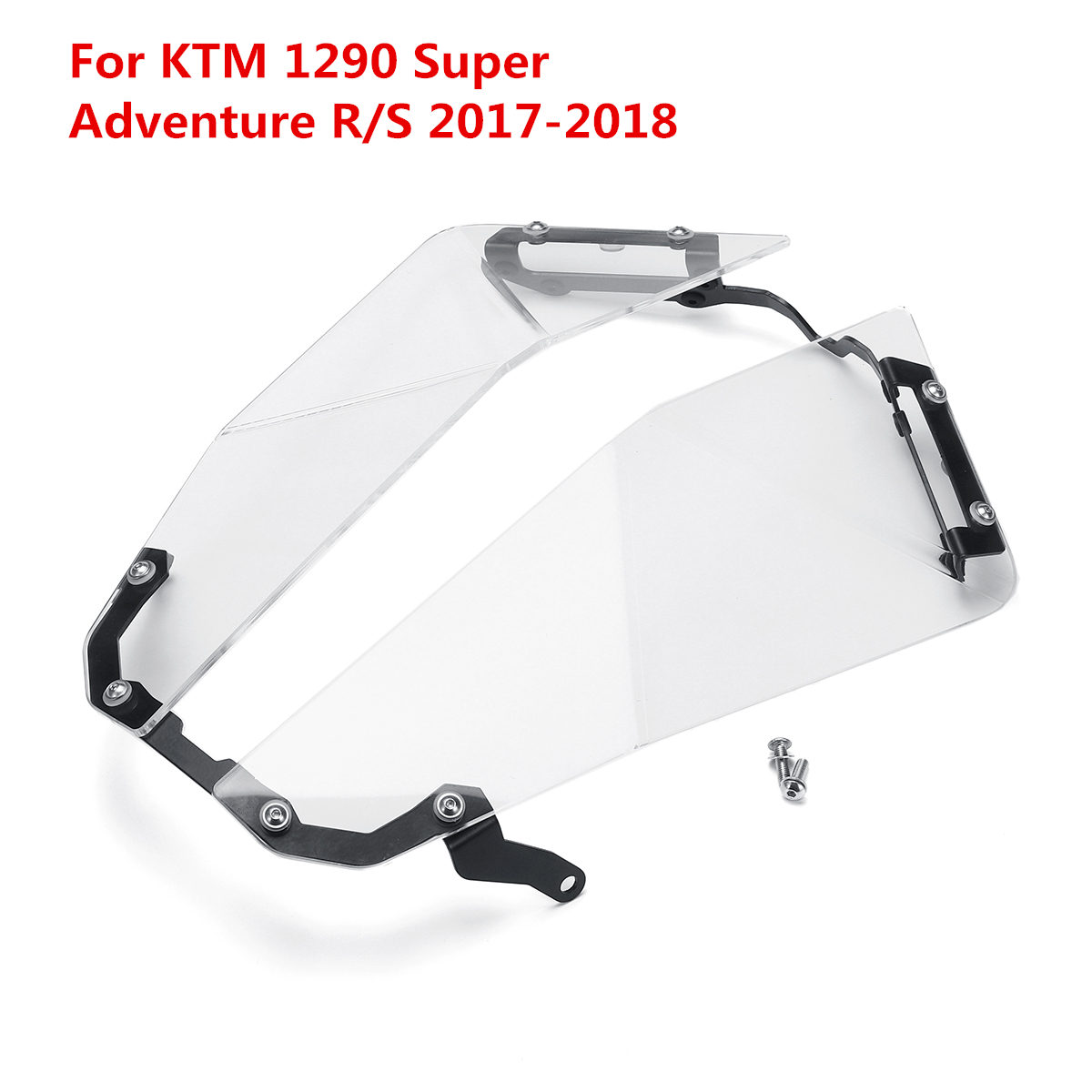 For KTM 1290 Super Adventure R/S 2017-2018 Motorcycle Front Transparent Headlight Guard Headlight Protector Cover Lens