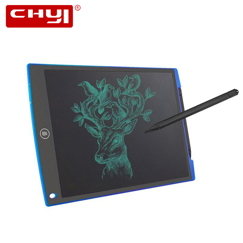 CHYI 12 Inch LCD Writing Tablets Digital Art Handwriting Pad Electronic Ultra-thin Healthy Memo Drawing Board For Children Toys