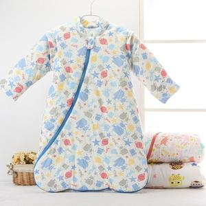 Image 2 - Childrens Fall And Winter Thickened Cotton Flannel Sleeping Bag Infant Long Sleeves Stroller Warm Cartoon Sleeping Bag