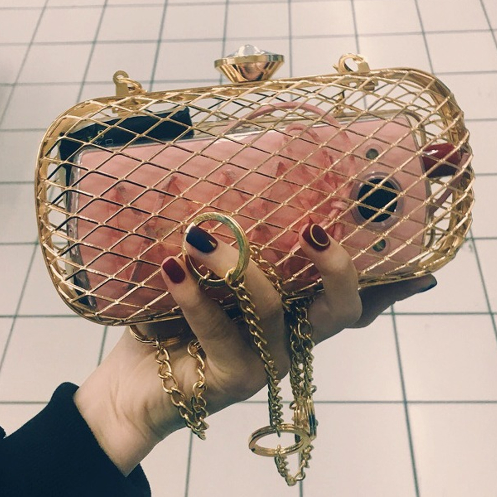 fashion-design-unique-personality-hollow-metal-cages-party-clutch-evening-bag-women-shoulder-bag-ladies-handbag-messenger-bags