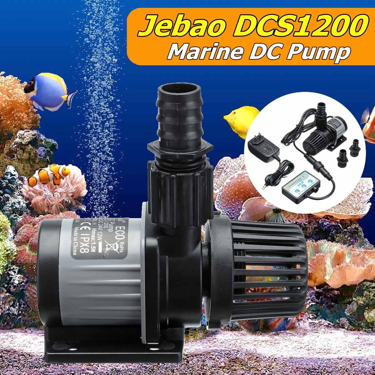 Jebao Jecod DCS 1200 eau Submersible Aquarium retour pompe poisson réservoir contrôleur