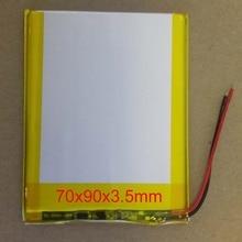 Новинка 3500 мАч литий-ионный аккумулятор для планшетного ПК 7,8, 9 дюймов планшетный ПК 3,7 в полимерный литиевый аккумулятор высокого качества