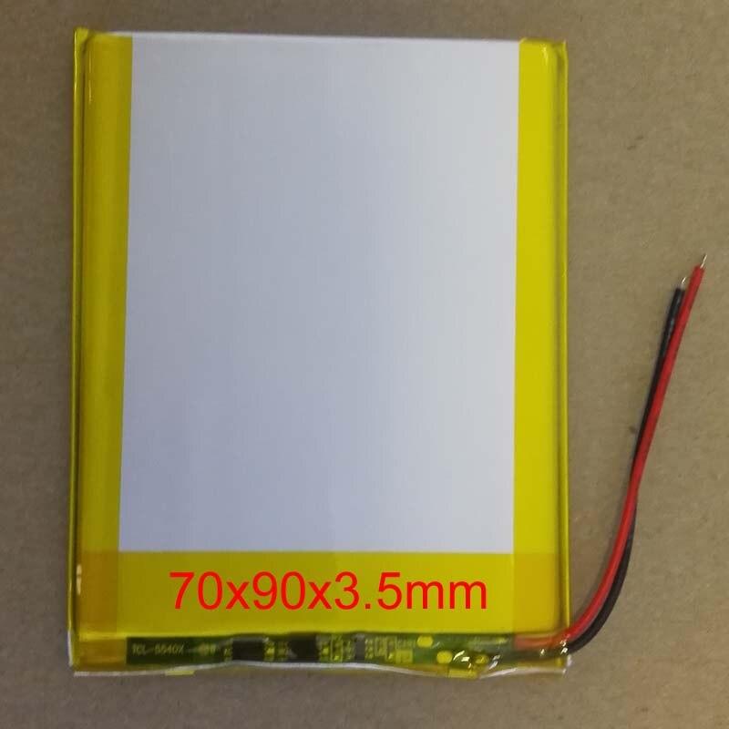 Nouvelle batterie 3500 mah Li-ion tablette pc pour 7,8, 9 pouces tablette PC 3.7 V polymère lithiumion batterie de haute qualité