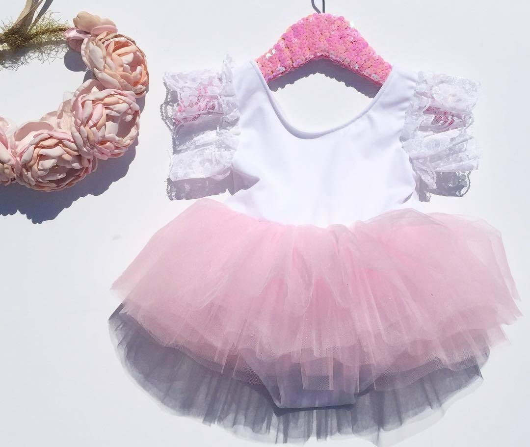 Pudcoco Girl Clothes US Newborn Kids Baby Girls Pink Romper Party Lace Tutu Dress Clothes Outfit 0-3Y