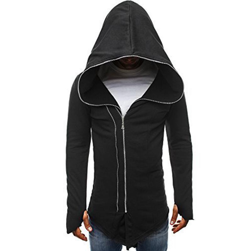Men Pullover Hood Sun/&Moon Zip Hoodies Hooded Classic Jackets Coats