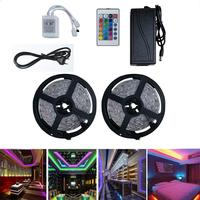 10M 300LEDs Waterproof RGB Strip Lights+24Keys Remote Control+Adapter LED Strip Light Flexible ribbon