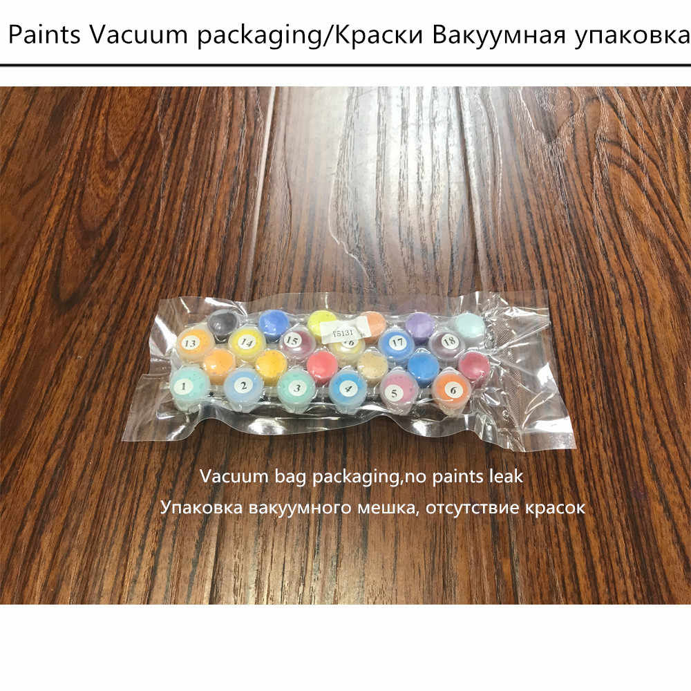 BAISITE DIY ממוסגר שמן ציור נוף תמונות בד ציור לסלון קיר אמנות בית תפאורה H349