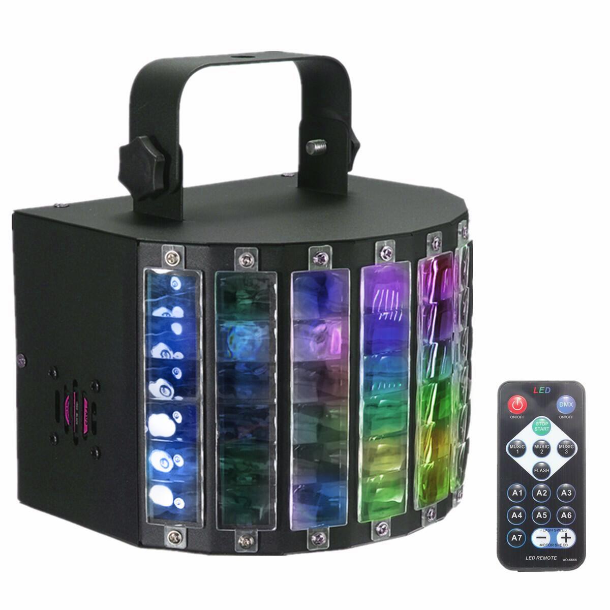 AC90-240V 30W DMX512 RGBW LED  Light Auto/Sound Control/DX512 9 Color DJ Disco Lamp +Remote Control US Plug