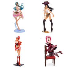 4 Styles Anime One Piece Nami Boa Hancock Nefeltari Vivi Perona PVC Action Figure Doll Collectible Model Baby Toy Christmas Gift statue one piece seven warlords of the sea boa hancock bust pirates female emperor gk action figure collectible model toy d720
