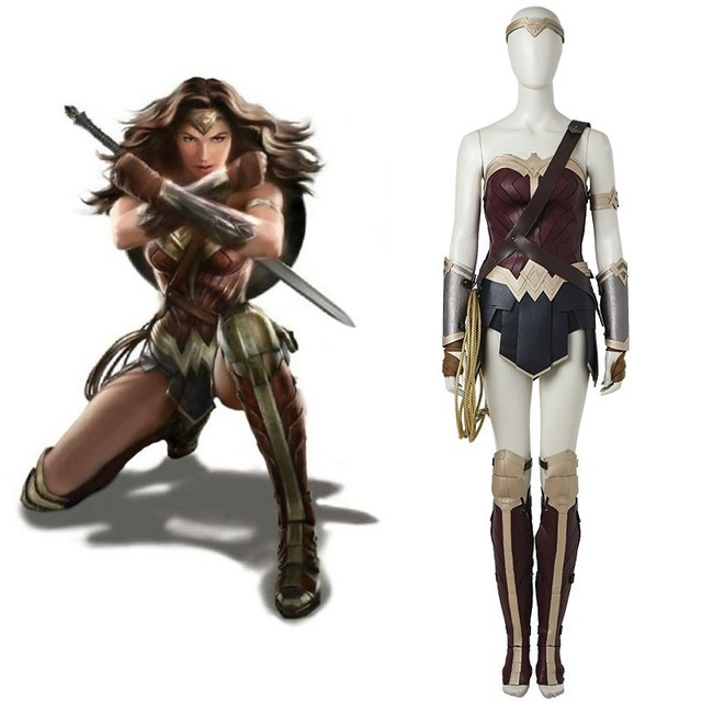 Justice League Wonder Woman Costume Diana Prince Sexy Outfit