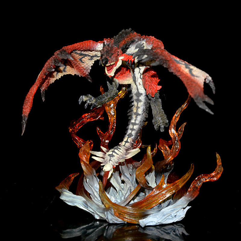 Genuine Monster Hunter Digarex Tigrex Roaring Rathalos Figure Feiyan Fire Dragon Collector's Edition Decoration Kids Toy Gift