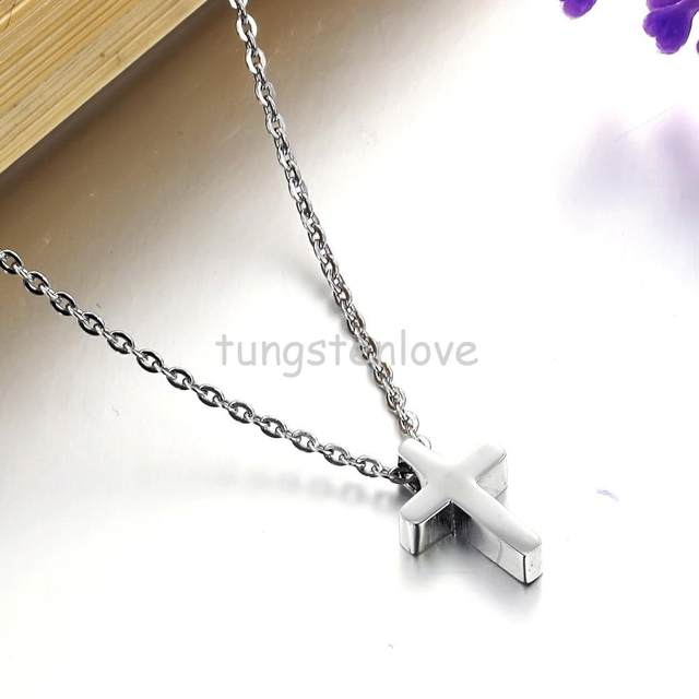 Online shop fashion high polished 316l stainless steel silver cross online shop fashion high polished 316l stainless steel silver cross necklace for women mens cross pendant neckaces womens aliexpress mobile mozeypictures Gallery
