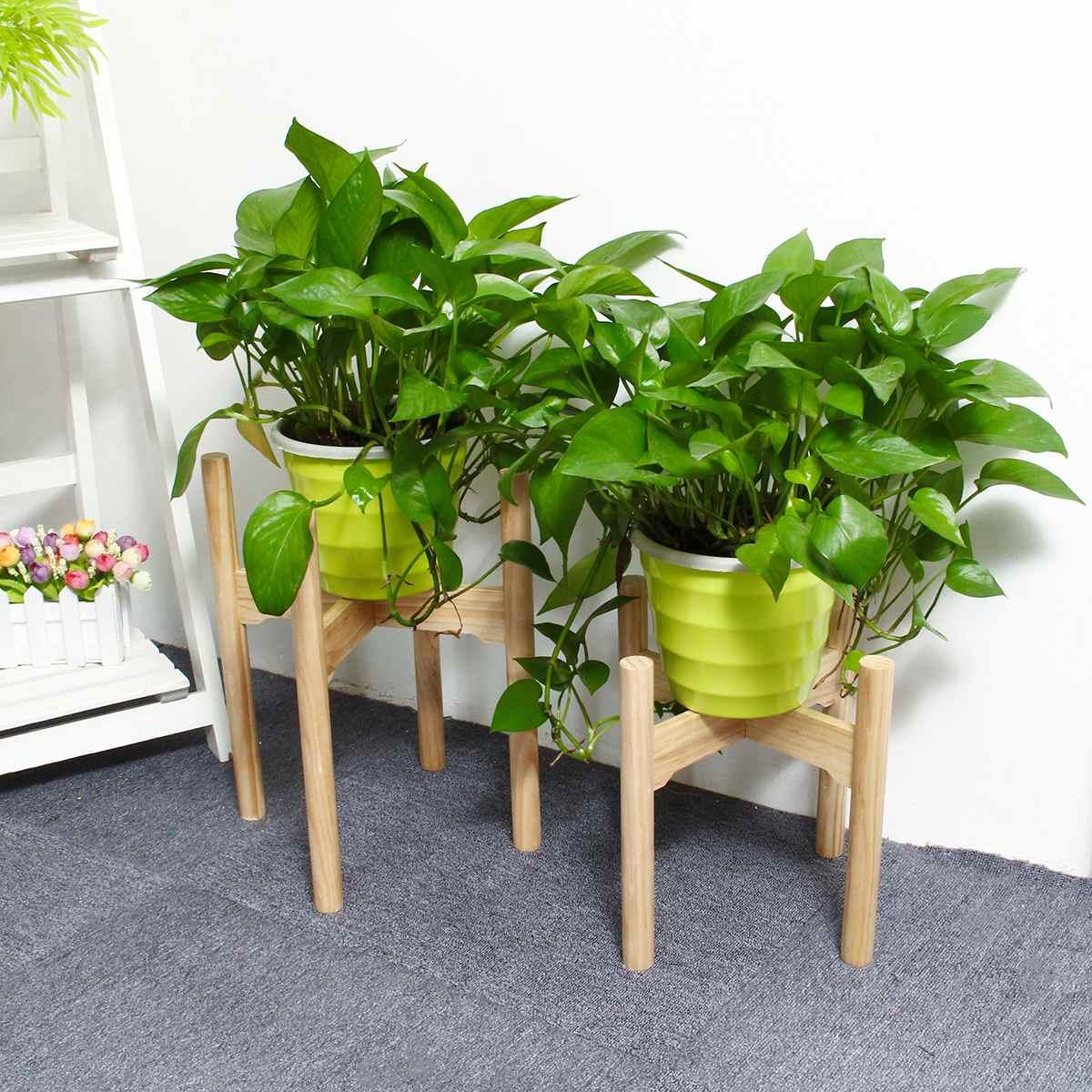 Furniture New Plant Shelves Flower Garden Wooden Plant Stand Flower Pot Garden Rack Stand Flower Display Wood Shelf Storage Rack