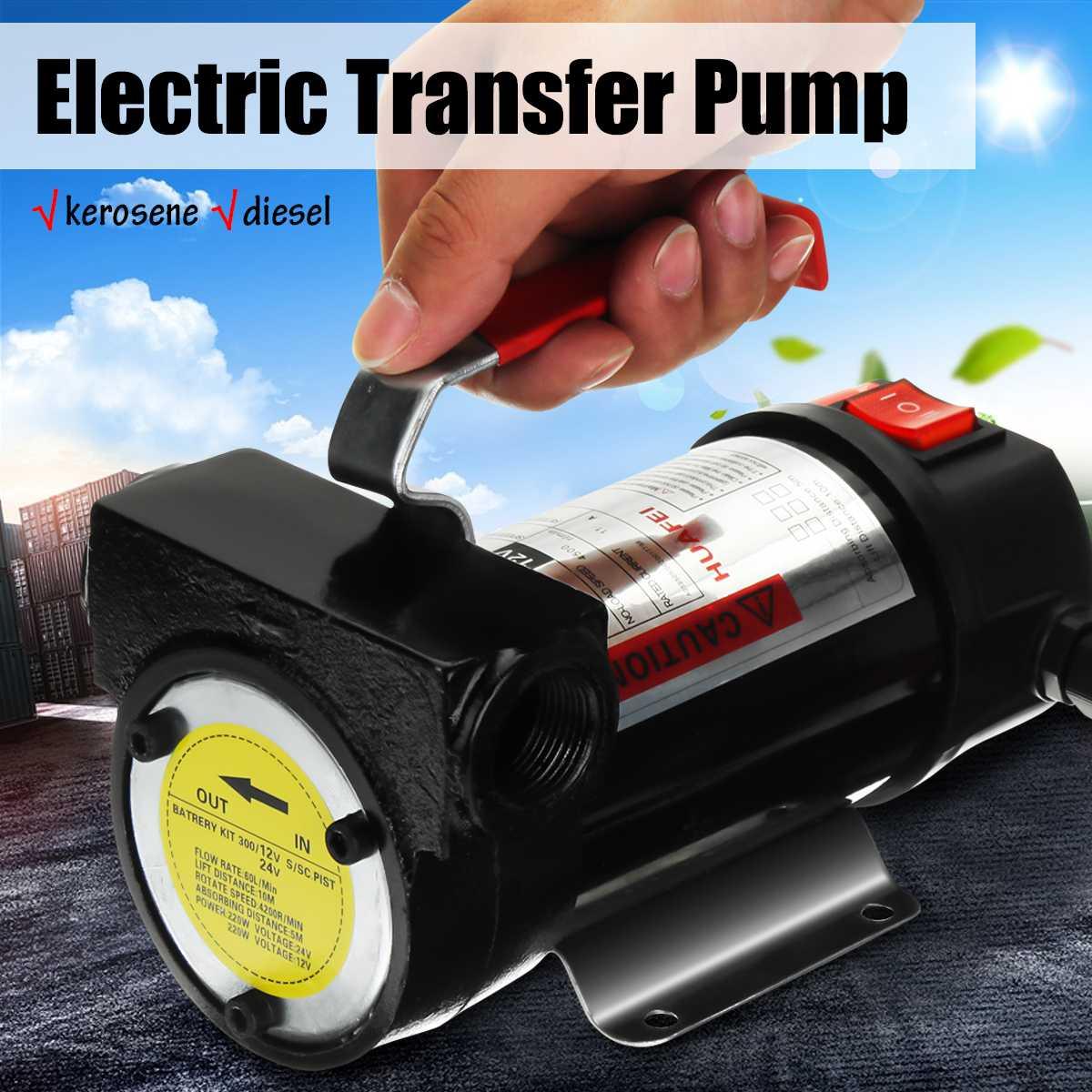 Kit de pompe de transfert électrique Portable 12 V extracteur de fluide Kit de pompe de transfert d'huile automatique Plubing 50L/min