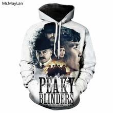 Underworld Drama Peaky Blinders 3D Print Jackets Spring Men/women Punk Streetwear Sportswear Hoodies Boy White Outwear Clothes