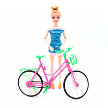 3 Style Doll Accessories Pink Green Plastic Bicycle Bike Outdoor Sports Toy For 29CM Doll Dollhouse Kids Pretend Play Gift Set все цены