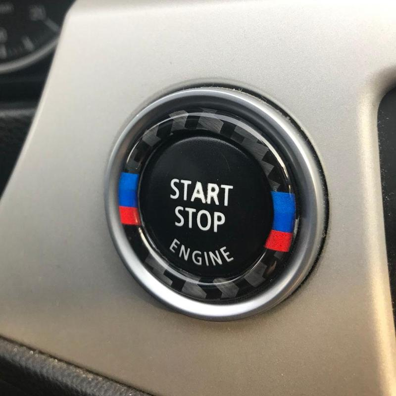 Image 5 - VODOOL 32.5mm OD Carbon Fiber Car Engine Start Stop Button Ring Trim Auto Car Starting Button Decoration For BMW E90 E92 E93-in Interior Mouldings from Automobiles & Motorcycles