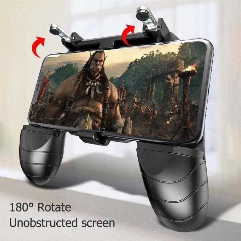 Gaming Pad W18 Smart Phone Gaming Trigger For PUBG Gamepad Fire Button Aim Key Shooter Handle Grip Controller Gamer Accessary